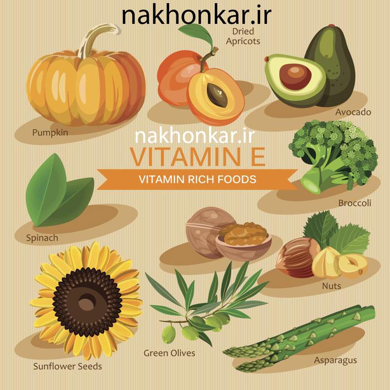 ناخن کار ، ویتامین ها و مواد معدنی مواد غذایی حاوی ویتامین e E ،