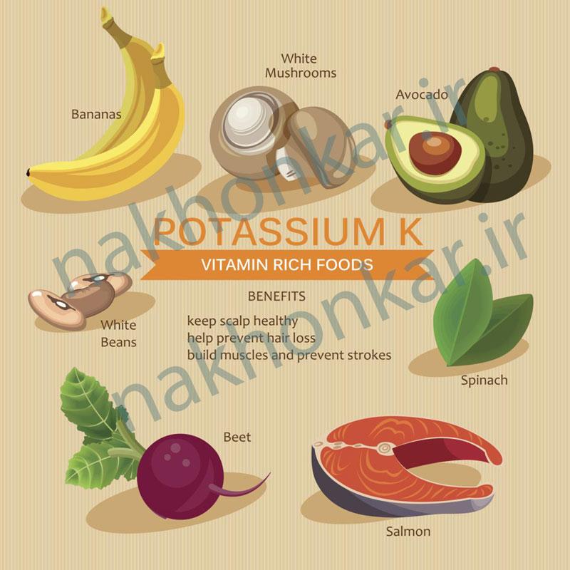 ناخن کار ، مواد غذایی حاوی ویتامین K k